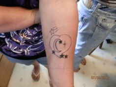 this one is number three of three of the best friend tattoos. they all came up with their own designs and had me put them on.