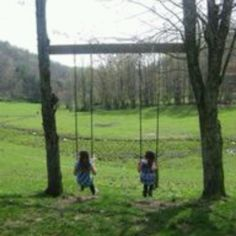 Cool swing set idea.