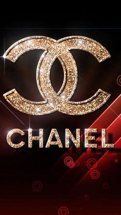 Chanel Fashion Glitter Logo HD Wallpapers for iPhone.