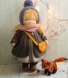 Купить Милана - голубой, Милана, вальдорфская кукла, waldorfdoll, waldorf doll, waldorf puppe, taisoid