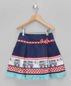 Take a look at this Navy & Red Ice Cream Truck Skirt - Girls by Uttam Kids on #zulily today!