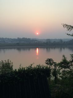 The Mekong River at Chiang khong River, Celestial, Sunset, Outdoor, Sunsets, Outdoors, Outdoor Living, Garden, Rivers