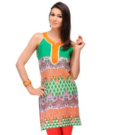Yepme Julieta Green Printed Kurti  available at snapdeal for Rs.299