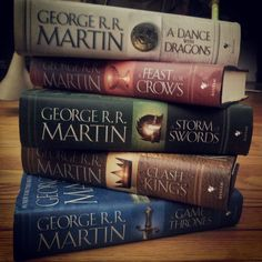 A song of ice and fire series : A Game of Thrones, Clash of Kings, A Storm of Swords, A Feast for Crows, A Dance of Dragons) by George R R Martin