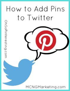 How to add Pinterest pins to Twitter