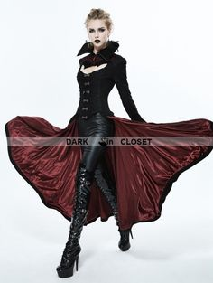 Devil Fashion Black and Red Gothic Dark Vampire Queen Style Jacket for  Women Gothic Gowns f8feed2ffa2a
