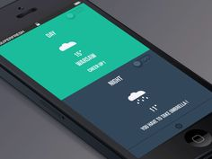 Dribbble - weather app - slide GIF by Paweł Pniewski #UImotion