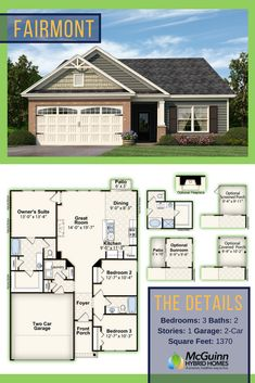 Trying to find your ideal floor plan in South Carolina? Discover this wonderful 3 bedroom, 2 bathroom layout perfect for families! With both optional rooms and an open layout, this floor plan offers flexibility.