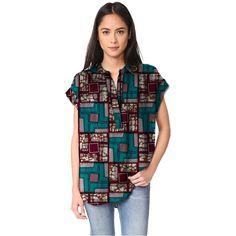 Elegant women african print dashiki clothes V-neck ladies Short sleeve patchwork t shirts loose africa clothing