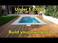 Diy In Ground Pool, Small Above Ground Pool, Above Ground Swimming Pools, In Ground Pools, Backyard Pool Landscaping, Small Backyard Pools, Backyard Pool Designs, Backyard Ideas, Pool Decks