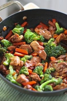 Chicken and vegetable teriyaki stir fry recipe! Easy to make and I serve it over brown rice. A great delicious healthy meal!