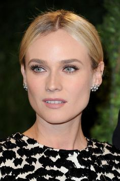 Diane Krugers Simple Make Up Celebrity Makeup Celebrity Red Carpet Vanity Fair Oscar Party