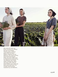 """Life in pics: Editorials: """"Simple pleasures"""" - Tori Trigg, Chanel Tsotras and Dominique by Nicole Bentley Fashion Brand, Fashion Show, Fashion Outfits, High Fashion, Editorial Photography, Fashion Photography, Advertising Photography, Glamour Photography, Lifestyle Photography"""