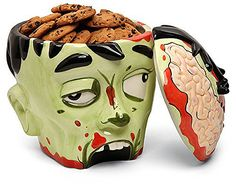 Zombie Cookie Jar Head Perfect gift for zombie lovers and I'm sure TWD fans will appreciate it.http://gwyl.io/thinkgeek-zombie-cookie-jar-head/