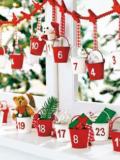 Red buckets advent calendar