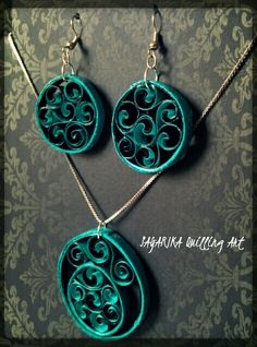 Quilling necklace set 5