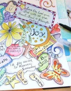 A Palette Full of Blessings: 2 more pages for my Journal