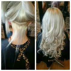 Beautiful#silverhair #18 inches of weave! #shorttolong #colour #hair #longhair colour by our wee Jo! Xx @joanneharris1987