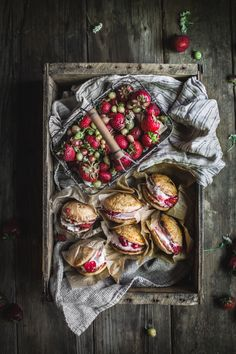 Strawberry Rhubarb Pie Ice Cream Sandwiches http://adventuresincooking.com/2017/06/strawberry-rhubarb-pie-ice-cream-sandwiches.html