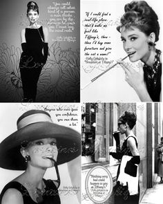 Audrey Hepburn Breakfast at Tiffany's by LorrainesGraphiques, $4.95