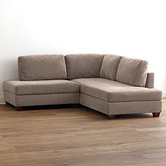 Putty Wyatt Sectional Sofa | World Market $999 also available in Charcoal
