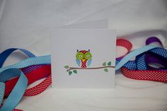 Owl Card by Nikelcards on Etsy, £2.95