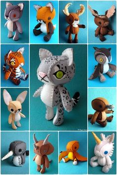 So cute! I haven't ventured beyond mostly-flat felt dolls, but these make me want to try making 3-D ones!: