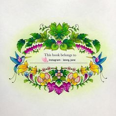 #jardimsecretolove #docepapelatelier#nossojardimsecreto #coloring…