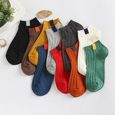 2017 women's socks spring 5 pair socks short invisible cotton colorful women fashion Retro socks for women