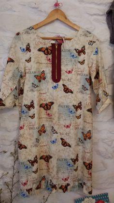 vestido de algodón estampado de mariposas por locapormi en Etsy