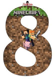 EUGENIA - KATIA ARTS - CUSTOM LETTER BLOG AND SOME STUDIES: Minecraft Letter and Numbers