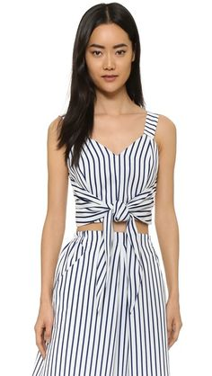 3069cea852e9d J.O.A. Tie Front Striped Crop Top
