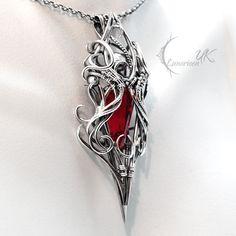 XATHRAN OTHORIA - Silver, Red Quartz and Garnet. by LUNARIEEN on DeviantArt