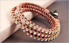 wrapped rhinestone bracelet