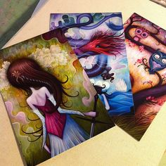 "Awesome Free Postcards rom Jeremiah Ketner @ #SDCC ... did i mention ""Free""?"