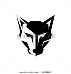 Wolf Logo Template - stock vector