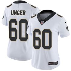 7061cb64d ... Nike Saints 60 Max Unger White Womens Stitched NFL Vapor Untouchable  Limited Jersey 18 New Orleans ...