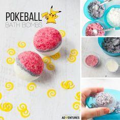 homemade pokeball bath bombs for a fun bath time