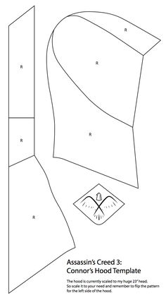 The long awaited hood template that you guys have been waiting for. This was vector from my newspaper pattern, so there might be a tiny bit of mismatching here and there. Well I hope it helps with ...