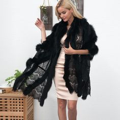 Lace Faux Fur Shawl, COOL99 New Womens Warm Coat Shawl Winter Parka Wedding Bridal | Winter Wedding Ideas >>> Want additional info? Click on the image. (This is an affiliate link) #WinterWeddingIdeas