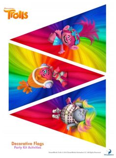 Trolls Pennant Banner – Free Party Printables