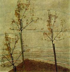 "Egon Schiele ""Autumn Trees"""