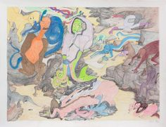 Shuvinai Ashoona, Creatures, ink and coloured pencil on paper, x 127 cm, collection of Suzanne Lamarre. Art Gallery Of Ontario, Inuit Art, Canadian Art, Detailed Drawings, Contemporary Artists, Colored Pencils, Book Art, Creatures, Illustration
