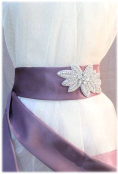 Yvette Belt, from our Something New collection, Bright Wedding Crystal Beaded Satin Sash, Bridal Belt, Rhinestone Beaded Sash by SomethingTreasured8, $130.00