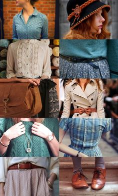 Teal + Brown color palette is about as spring as I get.                                                                                                                                                     More #vintagefashion #vintagelook