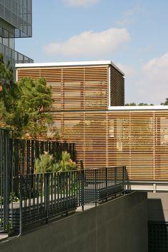 Sede corporativa de Aena en Pegaso City. Pasarela de unión entre edificios T.1.10 y T.1.11. Madrid 2011. allende arquitectos