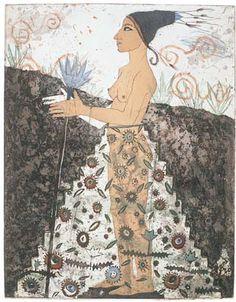 Kirsi Neuvonen, Peruvian Flower Girl (1991) Pho, Various Artists, Flower Art, Printmaking, Paper Art, Sketches, Art Prints, Helene Schjerfbeck, Drawings