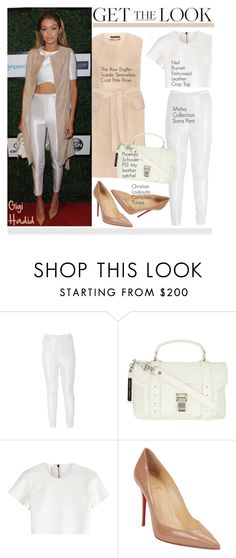 """""""Get the Look: Gigi Hadid"""" by helenevlacho on Polyvore featuring Misha Collection, Neil Barrett, Christian Louboutin, GetTheLook, StreetStyle, CelebrityStyle and gigihadid"""