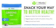 Healthy snack! ItWorks natural products! http://kris10mock.myitworks.com/shop/