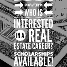 The REALTORS Real Estate School Pre-License Scholarship for Veterans award is based on the applicants indication of interest in pursuing a career in the real estate industry. All applicants must be a resident of the State of Illinois. @chicagorealtors  Scholarship Requirements  Must meet current minimum Illinois licensing standards Must submit fully completed application for consideration Valid only for the RRES pre-licensing programs Must have been honorably discharged from the military…